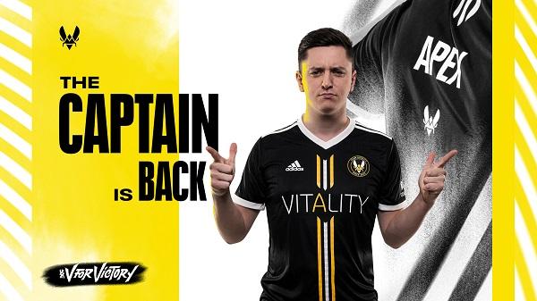 Vitality宣布apEX正式回归!首场对阵OG帮助队伍2-0战胜了对手